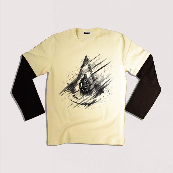 خریدتی شرت استین بلند جنس پنبه دو رو در سه سایز M,L,XL