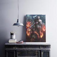 خرید تابلو طرح god of war