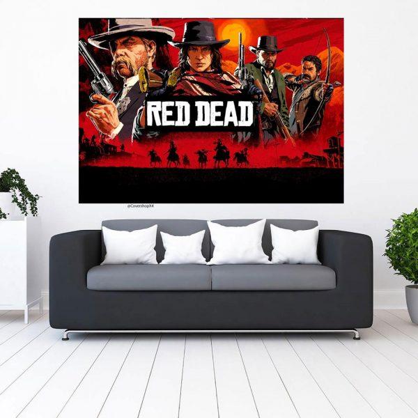 تابلو طرح red dead redemption 2
