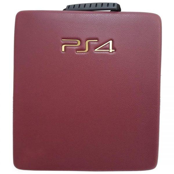 خریدکیف ضدضربه PS4 - طرح چرم قرمز