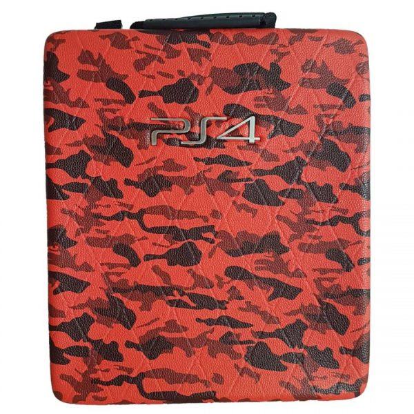 خریدکیف ضدضربه PS4 - طرح ارتشی قرمز و مشکی