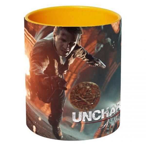 خرید ماگ تو رنگی طرح uncharted 4
