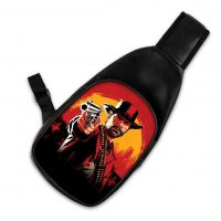خرید کیف دوشی چرمی طرح بازی red dead redemption 2