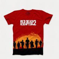 خرید تی شرت آستین کوتاه طرح red dead redemption 2