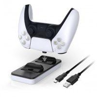 خرید پایه شارژر و نگهدارنده دسته PS5 مدل Dobe DualSense Charging