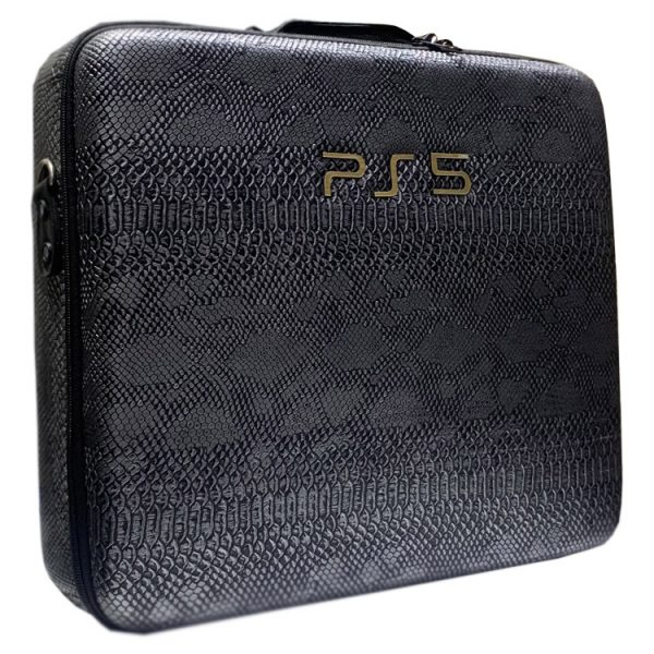 خرید کیف PlayStation 5 - طرح چرم ماری مشکی